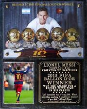 Lionel Messi Record 5th Ballon d'Or Photo Plaque Barcelona-Argentina