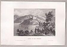 Србија. Serbien - Feste Roma a.d. Donau u. Morawa - Stahlstich um 1860