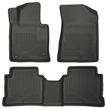For 2015-2017 Hyundai Sonata Husky Weatherbeater Black Front 2nd Row Floor Liner