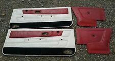 VW Golf 1 Cabrio Türpappen Seitenverkleidungen vorne hinten Satz weiß rot