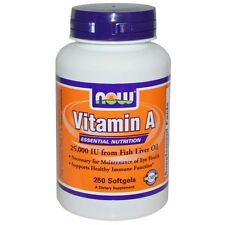 Now Foods, Vitamin A, 25.000 I.E, 250 Softgels