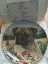 PUG DOG COLLECTOR PLATE DANBURY MINT PRAIRIE PUG SIMON MENDEZ BOXED + CERT