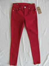 True Religion Halle Super Skinny Jeans Hi Rise-Chili Pepper Red-Size 24-NWT $189