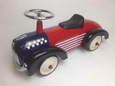 Scoot A Long Ride On USA Speedster Kids Car Red White & Blue Americana