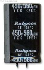 RUBYCON - 400VXG220MEFCSN25X35 - CAP, ALU ELEC, 220UF, 400V, SNAP IN