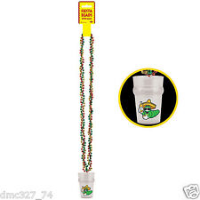 1 FIESTA Cinco de Mayo Party Novelty Bead Necklace with Tequila Worm SHOT GLASS