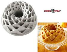 "Nordicware 9 1/2"" JUBILEE Bundt Pan 10 Cup DIAMOND WEAVE Pattern HEAVY Cast NEW!"