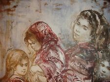 Mother and Three Children Richards  Artists Proof   pre 1974  by Edna Hibel