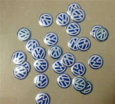 100pcs/lot For VOLKSWAGEN VW Key Remote Sticker Emblem Badge Fob Logo 14mm