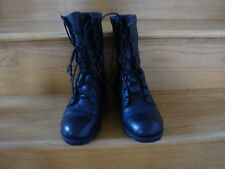 MEN'S RO Search Military Combat Lace Up Genuine Black LEATHER Boots SIZE 6 1/2 R
