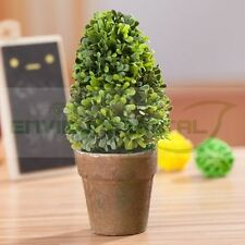 Tree Sapling Green Artificial Fake Plants Plastic Fabric Home Table Decor Potted