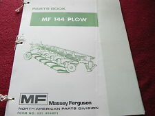 Massey Ferguson 144 Plow Original Dealer's Parts Book