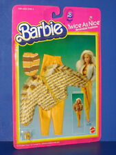 """Barbie Doll """"Twice As Nice"""" ALL TURNED OUT #4822 Reversible Fashion Mattel 1983"""