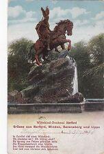 H 430 - Herford, Wittekind-Denkmal, 1910 gelaufen