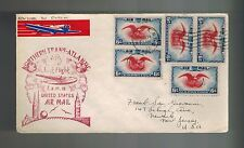 1939 First Flight Northern Trans-Atlantic Dublin Multi-Franking Illustrated Cove