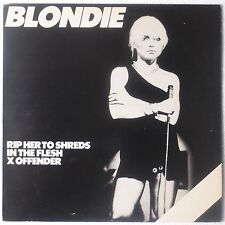 "BLONDIE: Rip Her to Shreds (Shreads) UK 12"" Misprint CHRYSALIS '77 ORIG lp VG++"