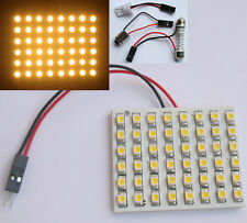 Car Interior Light Panel 48 LED SMD Warm White +Adapter