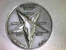 Lucifer / Morning Star / Satan / Pentecostal  - Silver 3D Coin   1 1/2""