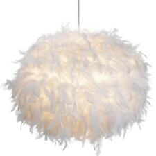 LARGE Boudoir Glamour White Feather Ball Ceiling Shade Pendant NEW Girls Room