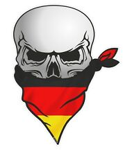 Ciclista cráneo con la cara Bandana & Alemania Alemán bundesflagge Bandera Pegatina de Coche