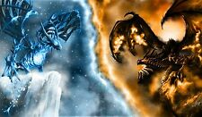 4417 World of WarCraft WoW Dragons Games Canvas Poster wall deco 24x42 Inches