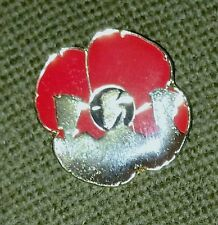 REMEMBER OUR TROOPS POPPY LAPEL PIN SILHOUETTE - REMEMBERANCE DAY NOV 11th