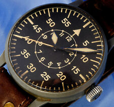 ALL ORIGINAL LACO GERMAN MILITARY PILOTS DECK WATCH  WW2 - ca. 1941