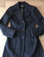 ING LORO PIANA Charcoal Gray Wool Long Coat Jacket ladies Sz 2 Saks