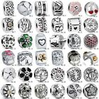 European Charms Flower Clip Beads Fit 925 Sterling Silver Bracelets Necklaces