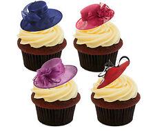 Posh sombreros Cupcake Toppers comestible, decoraciones de reinas Cumpleaños Pastel De Hadas levantado