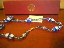 LADIES PAST TIMES MURANO GLASS NECKLACE SUPERB