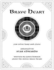 Brave Heart Duet Music for Celtic Harp and Flute Sheet Music
