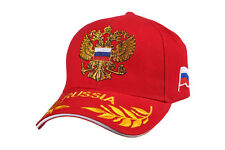 Embroidered BASEBALL CAP Russian Coat of Arms & Flag red & yellow