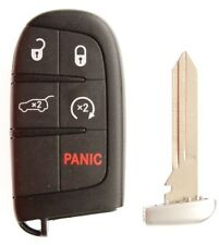 14-16 JEEP GRAND CHEROKEE KEYLESS ENTRY REMOTE KEY FOB REMOTE START W/ UNCUT KEY