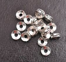 Tibetan Silver/Gold/Bronze Rings Spacer Beads Jewelry Findings 50/100Pcs K3116