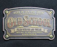 OLD SCHOOL WHISKEY LABEL US ARMY USA MILITARY 3D PVC VELCRO BRONZE MORALE PATCH