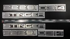Chris Craft STINGER Emblem Epoxy Stickers Resistant to mechanical shocks