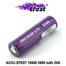 Accu / Battery EFEST IMR 18650 - 3500 mAh / 20A - Purple - Flat Top -AUTHENTIQUE