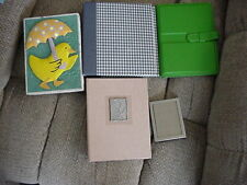 LOT OF CRAFT ITEMS 2 SM ALBUMS PAPER BOX WITH DUCK & SMALL FRAME