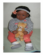 "Reborn Ethnic/Biracial 22"" Infant toddler  Doll Ava Marie"