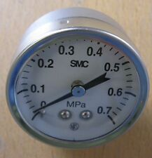 "SMC 43mm 0-0.7mpa 1/8"" NPT Stainless Steel Pressure Gauge G43-7-N01"