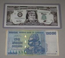 Donald Trump Money by Ron English & One Million Dollars Zimbabwe $ I banksy 2016