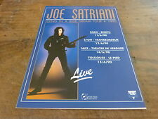 JOE SATRIANI - TOUR 1990!!!!!FRENCH!!PUBLICITE / ADVERT
