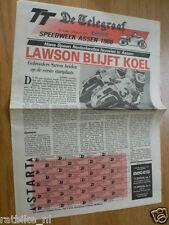 1988 SPECIAL NEWSPAPER DE TELEGRAAF DUTCH TT ASSEN GRAND PRIX MOTO GP,LAWSON,CHI