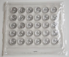 China 2007 30X 1 Oz 999 BU Silver Panda 10 Yuan Coins Original Sheet @Sealed@