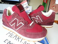 New Balance US 574 BURGUNDY RED SZ 12 USM547JA Made in USA RUNNING MENS 999 998
