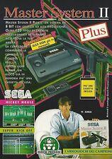 X2564 Sega Master System II Plus - Walter Zenga - Pubblicità 1992 - Advertising