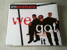 IMMATURE - WE GOT IT - 4 TRACK UK CD SINGLE