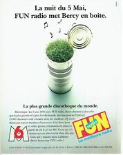 PUBLICITE ADVERTISING 116  1990  Fun radio   met Bercy en boite la plus grande
