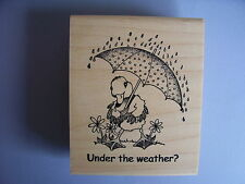 CREATIVE IMAGES RUBBER STAMPS CISTAMPS UNDER THE WEATHER STAMP
